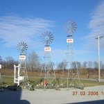30-Ft-Made-in-the-USA-Premium-Aluminum-Decorative-Garden-Windmill-red-Trim-0