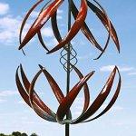 84-Double-Leaves-Blades-Metal-Wind-Sculpture-0