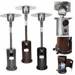 87-Tall-Stainless-Steel-Outdoor-Garden-Patio-Heater-Hammered-Bronze-Silver-Black-0
