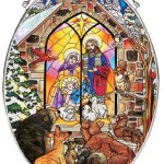 Amia-Oval-Suncatcher-with-Baby-Jesus-and-Nativity-Design-Hand-Painted-Glass-6-12-Inch-by-9-Inch-0