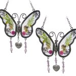 BANBERRY-DESIGNS-Mom-Butterfly-Suncatcher-Grandma-Butterfly-Suncatcher-Set-of-2-Pressed-Flower-Sun-Catcher-Each-One-Has-an-Engraved-Silver-Heart-Charm-0-0