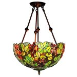 Bieye-L10480-16-inches-Grapes-Tiffany-Style-Stained-Glass-Ceiling-Pendant-Fixture-0