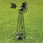 Bits-and-Pieces-4-Windmill-Wind-Spinner-48-Weather-Resistant-Obelisk-made-of-Powder-Coated-Steel-Perfect-Outdoor-Lawn-and-Garden-Dcor-0-0