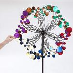 Bits-and-Pieces-Metallic-Kaleidoscope-Wind-Spinner-Garden-Dcor-Weather-Safe-Finish-Makes-for-Great-Addition-to-Your-Garden-Lawn-or-Patio-0-1