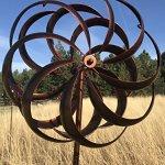 Bronze-Flower-Style-Kinetic-Wind-Garden-Spinner-0-2