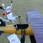 CHSGJY-Aviator-Spike-Whirligig-Airplane-Dog-Wind-Powered-Spinner-Vintage-Style-Plane-Yard-Garden-Outdoor-Living-Decor-0-2