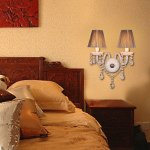Crystal-Wall-Light-with-2-Lights-in-White-Fabric-Shade-A-0-1