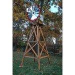 Decorative-Red-Wood-Backyard-Windmill-10-ft-0