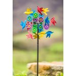 Evergreen-Birds-in-Flight-Outdoor-Safe-Kinetic-Wind-Spinning-Topper-Pole-Sold-Separately-0-1