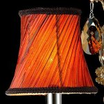 Generic-Crystals-Chandelier-2-Porch-Pendant-Lights-with-Lampshade-Color-Cognac-0-2