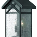 Hinkley-1794BK-CraftsmanMission-Two-Light-Wall-Mount-from-Holbrook-collection-in-Blackfinish-0