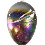 Large-Hand-Blown-Glass-Rainbow-Purple-Galaxy-Hanging-Egg-Shaped-Garden-Ornament-Gazing-Ball-13-0