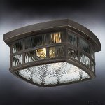 Luxury-Craftsman-Outdoor-Ceiling-Light-Small-Size-575H-x-12W-with-Tudor-Style-Elements-Highly-Detailed-Design-Oil-Rubbed-Parisian-Bronze-Finish-and-Water-Glass-UQL1249-by-Urban-Ambiance-0-1
