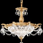 Milano-2-Light-Chandelier-in-Heirloom-Bronze-with-Clear-Optic-Crystal-0