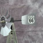 Mini-17-Inch-Made-in-the-USA-Windmill-galvanized-Steel-Black-White-Trim-Route-66-Tail-0