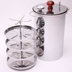 Russian-smoker-HANHI-Meat-fish-indoor-stainless-steel-20-l-BBQ-Grill-0-2