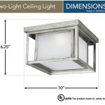 Sea-Gull-Lighting-79039EN-57-Hunnington-Two-Light-Outdoor-Flush-Mount-Ceiling-Light-with-Etched-Seeded-Glass-Panels-Weathered-Pewter-Finish-0-0