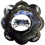Stainless-Steel-Train-12-Inch-Wind-Spinner-Black-0