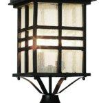 Trans-Globe-2-Light-Post-Lantern-Black-4639BK-0