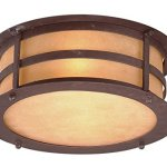 Troy-Lighting-Aspen-2-Light-Outdoor-Flush-Mount-Natural-Bronze-Finish-with-Seeded-Amber-Etched-Glass-0