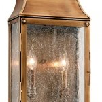Troy-Lighting-Beacon-Hill-11-W-3-Light-Outdoor-Wall-Light-Heirloom-Brass-Finish-with-Clear-Seeded-Glass-0
