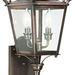Troy-Lighting-Dorchester-225H-2-Light-Outdoor-Wall-Lantern-English-Bronze-Finish-with-Clear-Glass-by-Troy-0