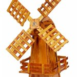 Wooden-Windmill-Small-Amish-made-with-Varnished-Burnt-Grain-Finish-0