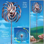 ntd-Double-Bronze-Pinwheel-Wind-Spinner-with-Solar-Light-0