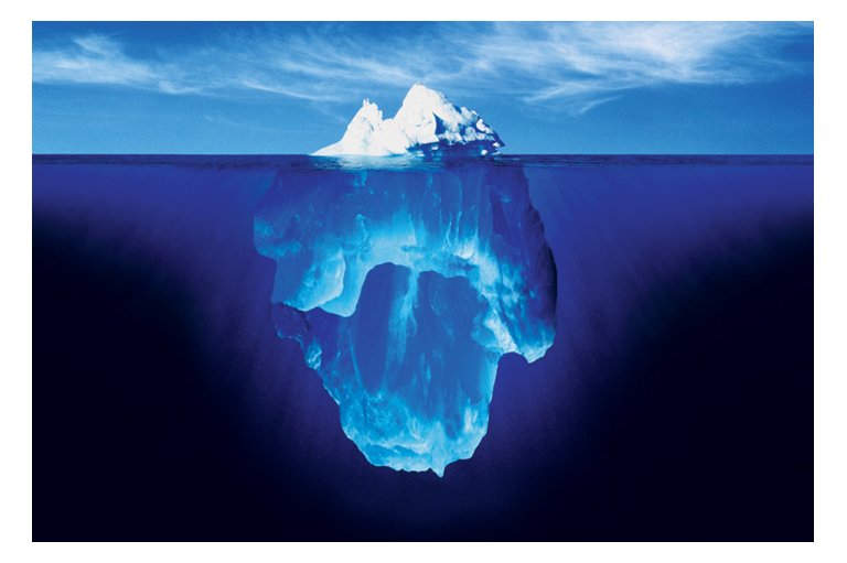 iceberg, tip of the iceberg
