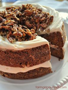Caramelized Apple Spice Cake with Brie Icing | Farmgirl Gourmet