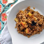 Spicy Sausage Stuffing with Grande Grains & Fruit | farmgirlgourmet.com