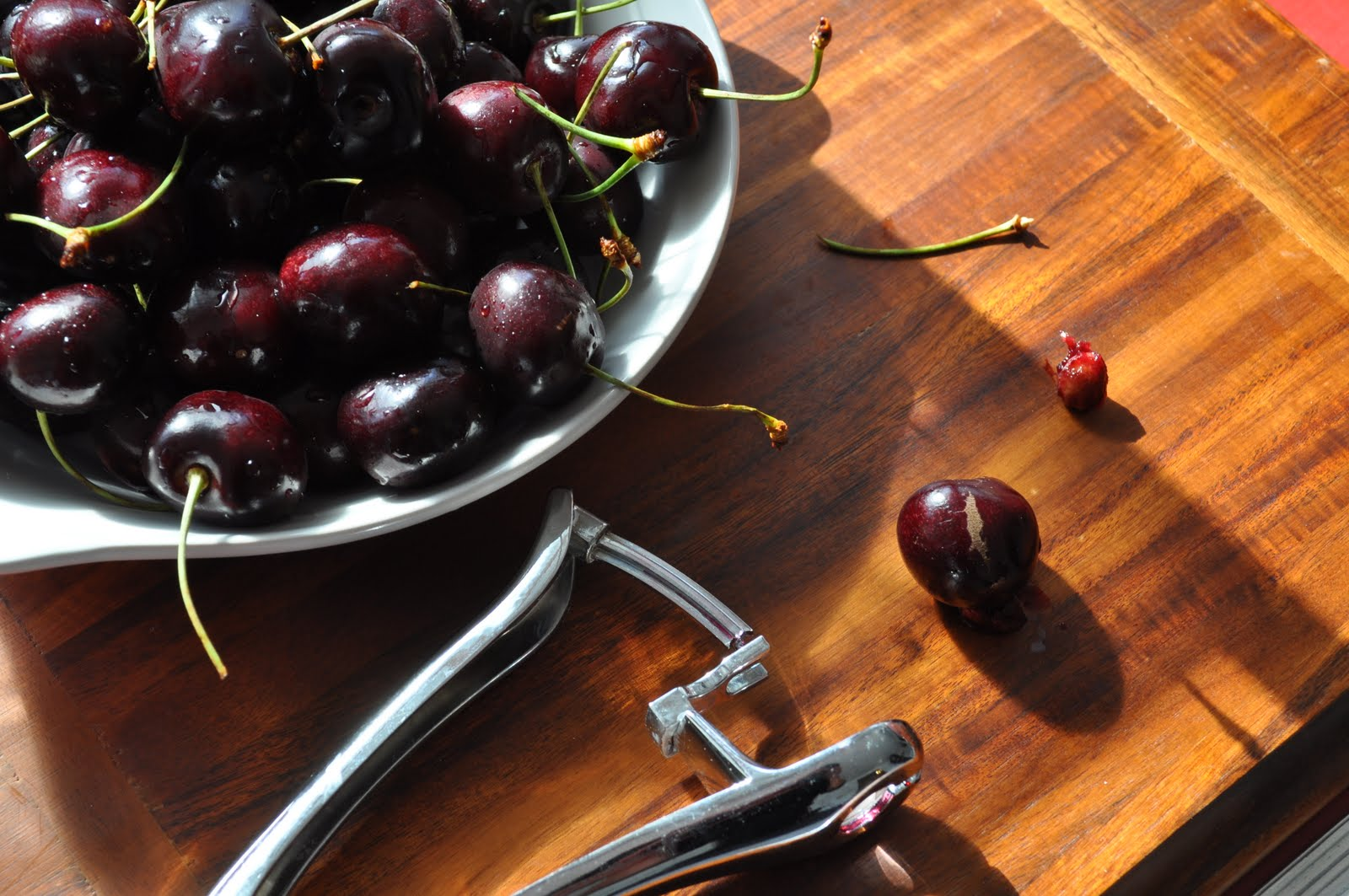 """When You Think Cherries, Do You Think €�salsa""""? Ya, Me Neither But I Had  This Giant Bag Of Cherries That Are Absolutely The Deepest Darkest Red And  So Sweet"""