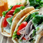 Emeril's Lamb Pita Sandwich with Harissa & Mint Yogurt - Click Image to See Post