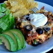 Mexican Lasagna via farmgirlgourmet.com
