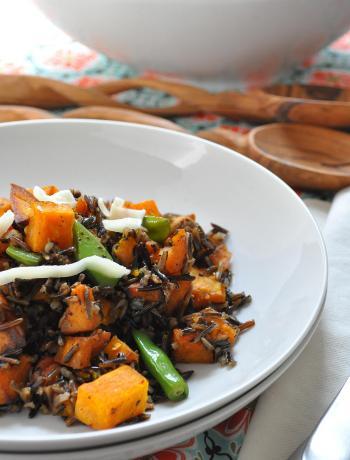 Roasted Pumpkin & Wild Rice Salad