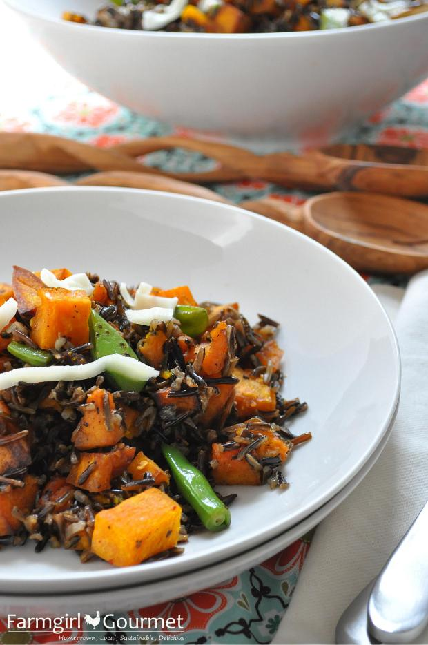 Roasted Pumpkin & Wild Rice Salad + a Giveaway from World Vision