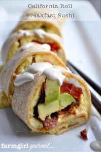 California Roll Breakfast Sushi