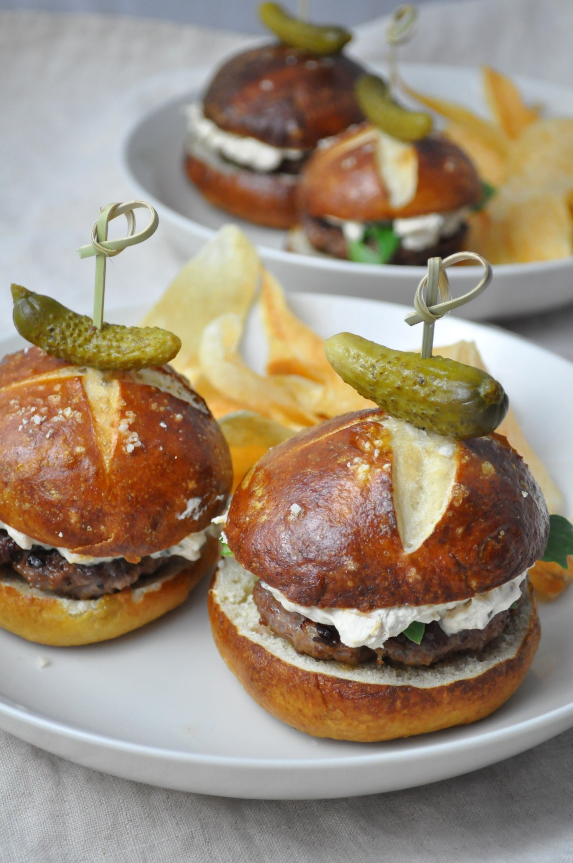 Surf and Turf Sliders via farmgirlgourmet.com