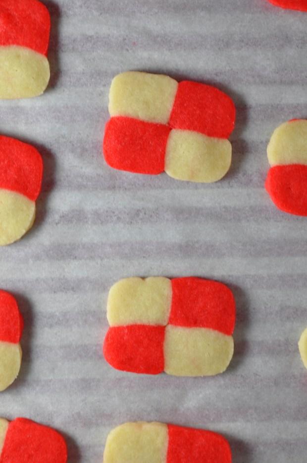 Valentines Checkerboard Cookies via farmgirlgourmet.com