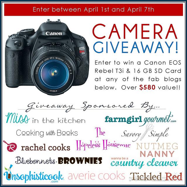 Canon T3i DSLR Giveaway | farmgirlgourmet.com