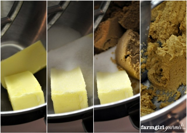Salted Toffee Chocolate Chip Cookies   farmgirlgourmet.com