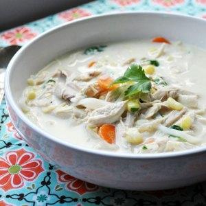 Creamy Thai Chicken Chowder | farmgirlgourmet.com