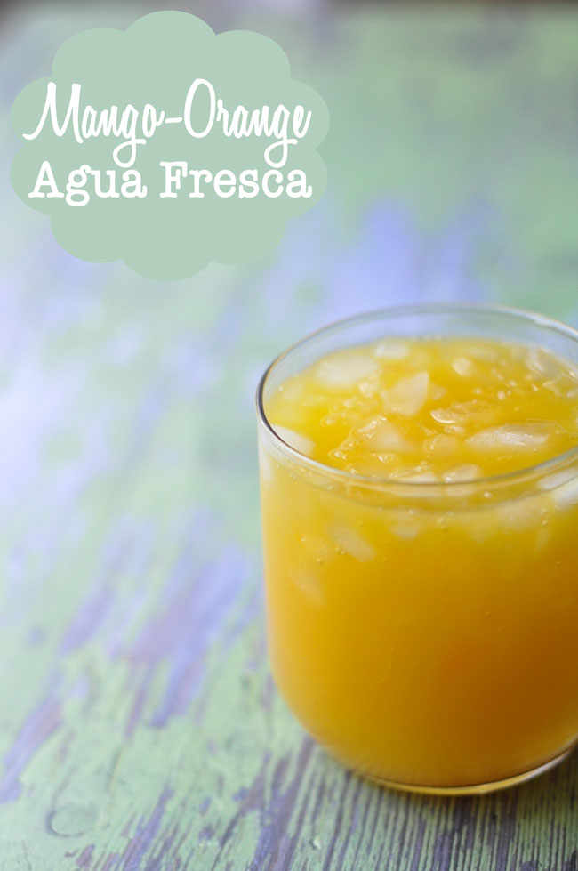 Mango Orange Agua Fresca | farmgirlgourmet.com