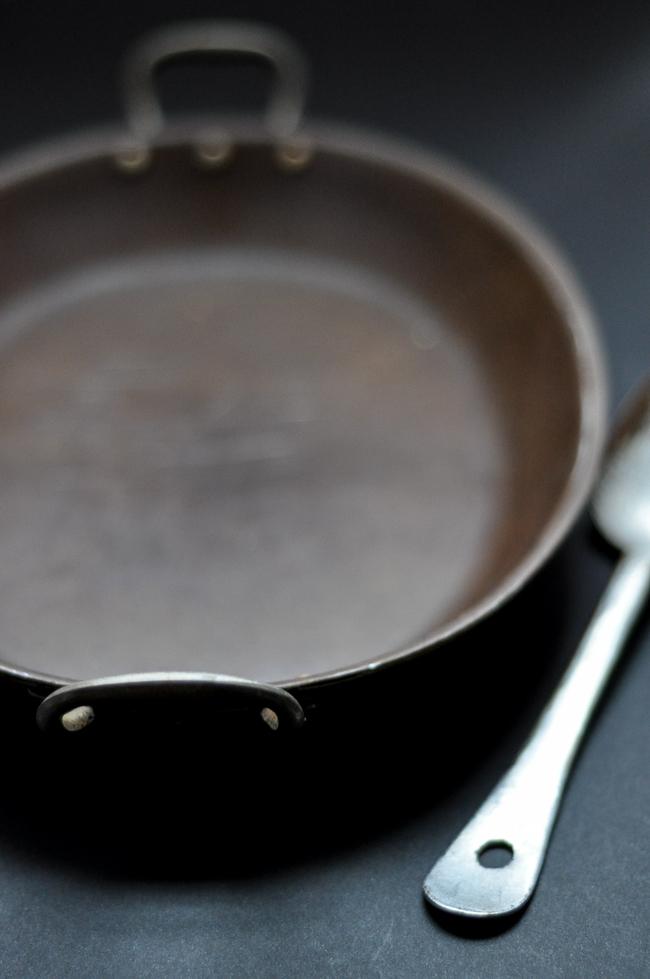 Well Worn Roasting Dish & Spoon | farmgirlgourmet.com