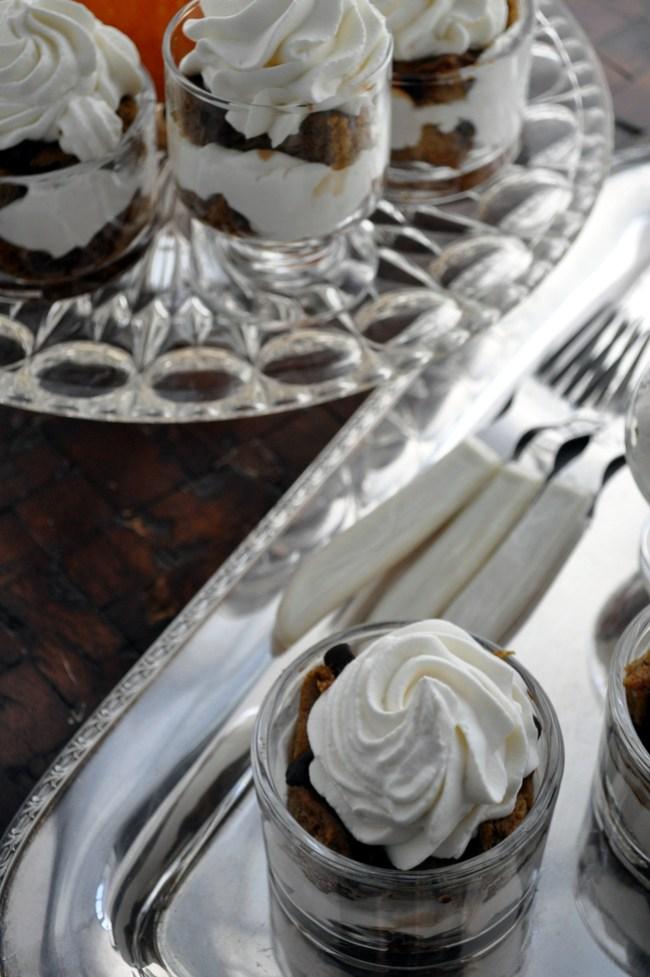 Pumpkin Chocolate Tiramisu | farmgirlgourmet.com #healthierholidays #lowsugar #thanksgiving #dessert