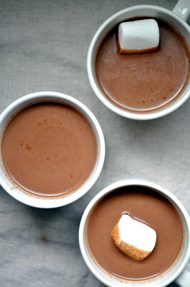 Aztec Kahlua Hot Cocoa | farmgirlgourmet.com