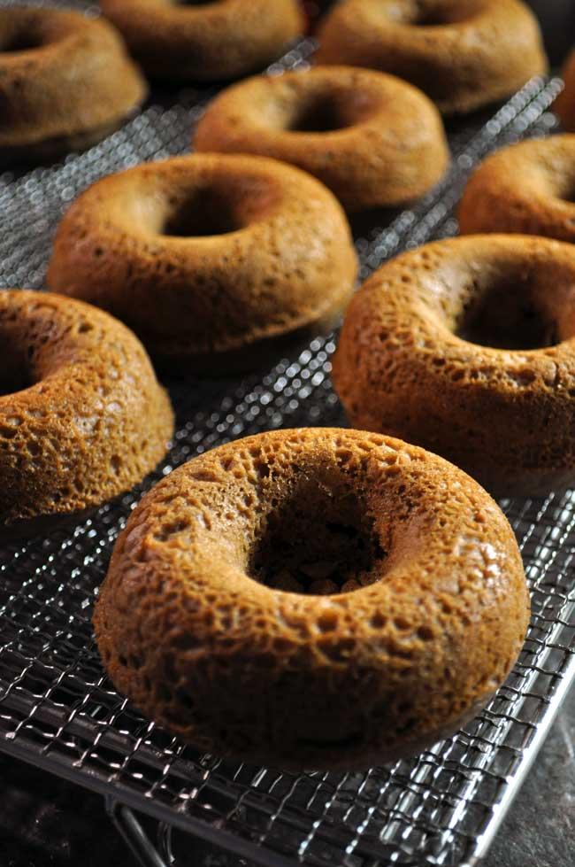 Kahlua and Cream Doughtnuts | farmgirlgourmet.com #doughnutweek #bakeddonuts