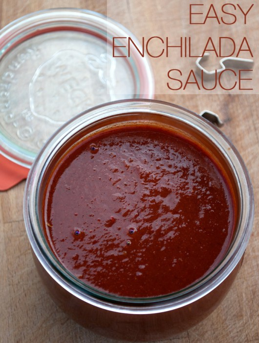 Easy Enchilada Sauce | farmgirlgourmet.com