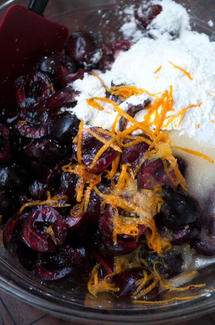 Fresh Dark Cherry and Orange Pie   farmgirlgourmet.com