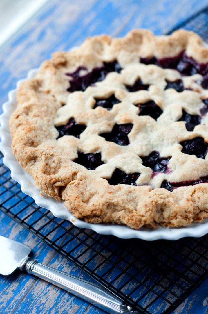 Fresh Dark Cherry and Orange Pie | farmgirlgourmet.com